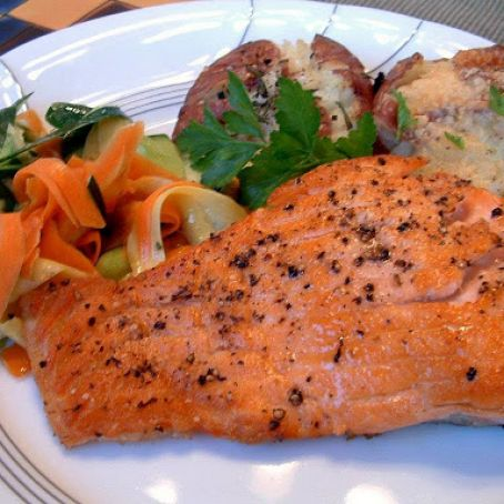 Seared & Roasted Salmon
