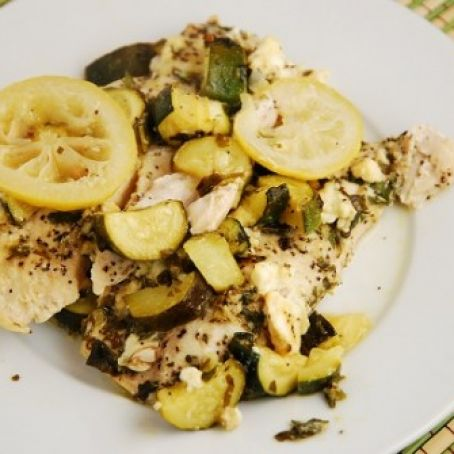 Chicken with Zucchini and Feta