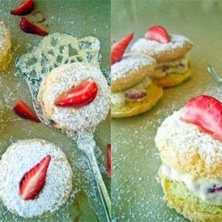 Strawberry Powder Puffs