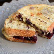 Brie, Blueberry and Balsamic Panini