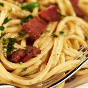 Pasta Carbonara with Hickory Smoked Bacon