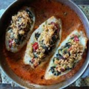 Greens Stuffed Haddock Wallets in a Sherry Pomodoro Sauce