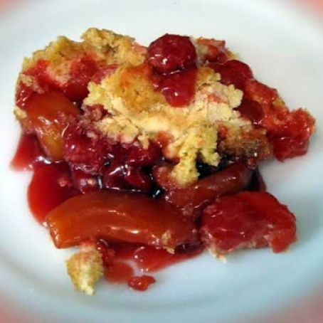 Apple-Cherry Dump Cake