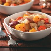 Garlic Roasted Winter Vegetables
