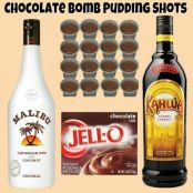 Chocolate Bomb Pudding Shots