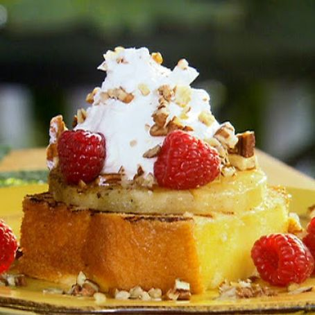 Grilled Pineapple Pound Cake a la Mode