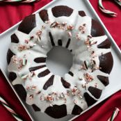 Minty Chocolate Christmas Bundt