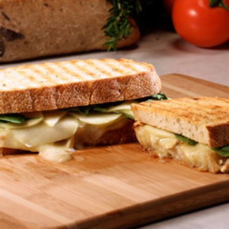 Apple, Brie, and Arugula Panini