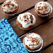 Pumpkin Spice Toffee Cupcakes