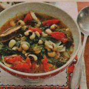 Black-Eyed Peas and Greens with Sausage