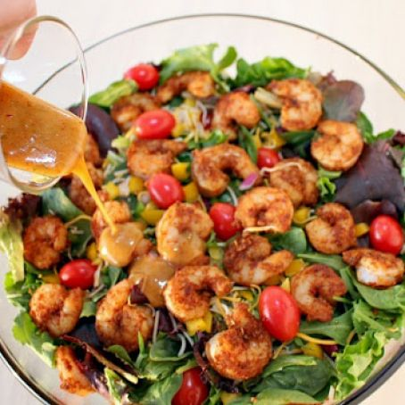Southwest Shrimp Salad with Spicy Honey-Lime Dressing
