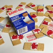 Bloody Band-Aid Cookies (Halloween)