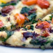 Rustic Pizza with Baby Arugula, Pancetta and Tomatoes