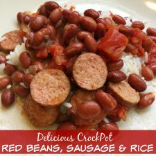 Crockpot Red Beans, Sausage & Rice