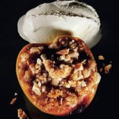 Roasted Peaches with Amaretti Crumble