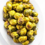 Garlic Roasted Bussels Sprouts