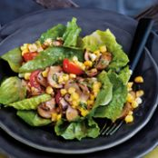 Warm Mushroom and Sweet Corn Salad with Thyme & Basil Vinaigrette