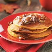 Pumpkin Pancakes with Cinnamon Brown Butter