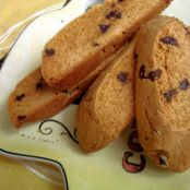 Peanut Butter Chocolate Chip Biscotti