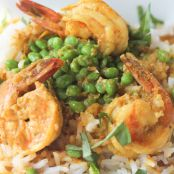 Curried Shrimp with Fresh Picked Sweet Peas
