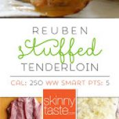 Reuben-Stuffed Pork Tenderloin
