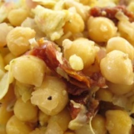 Artichoke Chickpea Salad (Warm)