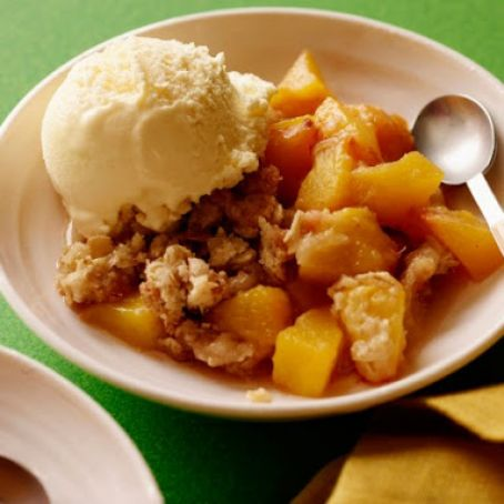 Louie and Pete's Peach Crisp
