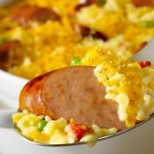 Smoked Sausage & Cheesy Rice Casserole
