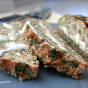 Feta Stuffed Turkey Meatloaf with Tzatziki Sauce