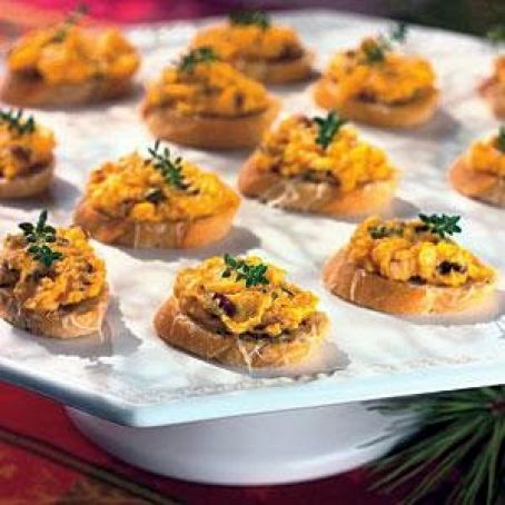 Butternut Squash Spread with Asiago Crostini