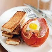 Stuffed Baked Tomatoes and Eggs with Pancetta