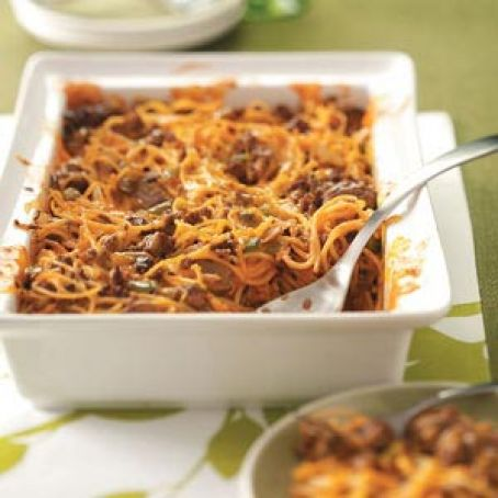 Spaghetti Beef Casserole Recipe - Freezer Meal