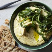 Chickpea Purée With Wilted Greens
