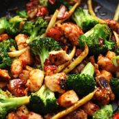 Easy Orange Chicken Vegetable Stir-Fry