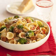 Orecchiette with Broccoli, Tomatoes and Sausage