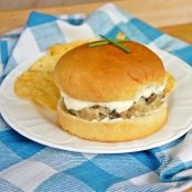 Chicken Creole Burgers with Bayou Mayo