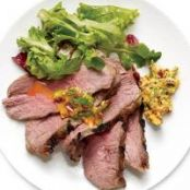 Sous Vide Tri-Tip Steak with Cilantro Butter