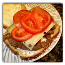 Black & Decker: Sweet & Spicey Steak Pieces with Onion, Mushrooms & Swiss Cheese Ultimate Sandwich Recipe