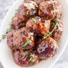 Slow Cooker Blueberry BBQ Meatballs