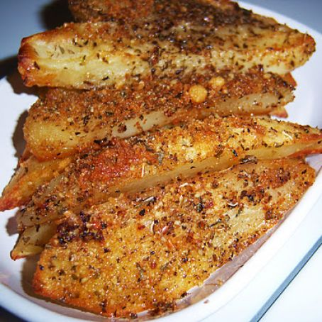 Baked Parmesan Crusted Potato Wedges Recipe 4 4 5