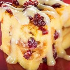 Orange Cranberry Bread Pudding With Vanilla Sauce-Food and Wine Festival Disney