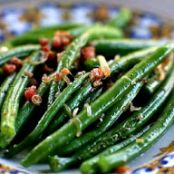 Green Beans and Pancetta with Browned Butter