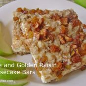 Apple and Golden Raisin Cheesecake Bars