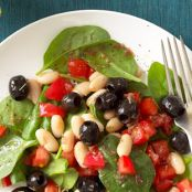 Italian White Bean & Spinach Salad