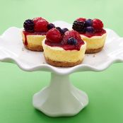 Greek Yogurt Cheesecakes with Quick Berry Compote (CE)