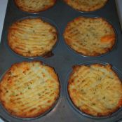 Mashed Potatoes in Muffin Tins