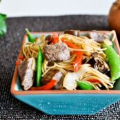 Sweet and Spicy Beef with Noodles