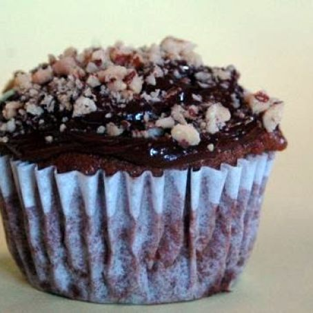 Flourless Peanut Butter Chocolate Cupcakes with Chocolate Frosting