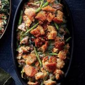 Green Bean Casserole with Cauliflower Cream