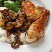 Vinegar Chicken with Mushrooms